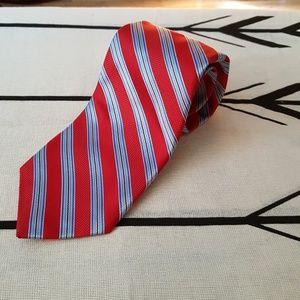 Robert Tallbot Carmel stripe handsewn silk tie